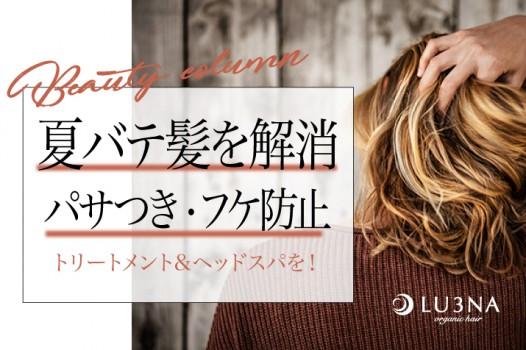 夏のダメージヘアにレスキュー!夏バテ髪を解消する〈東大阪 少人数サロン ルミナ〉おすすめケアメニュー