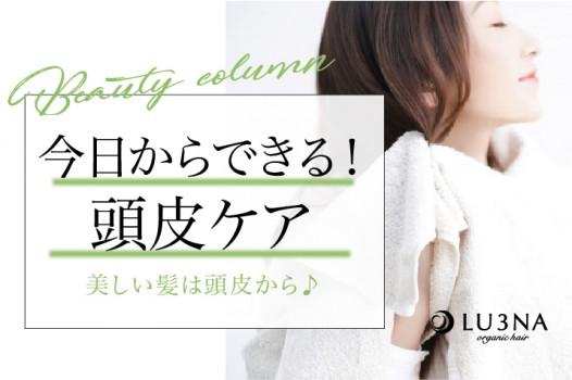 美しい髪は頭皮から!頭皮を健康にキープする方法とは?〈東大阪 布施 少人数美容室 ルミナ〉